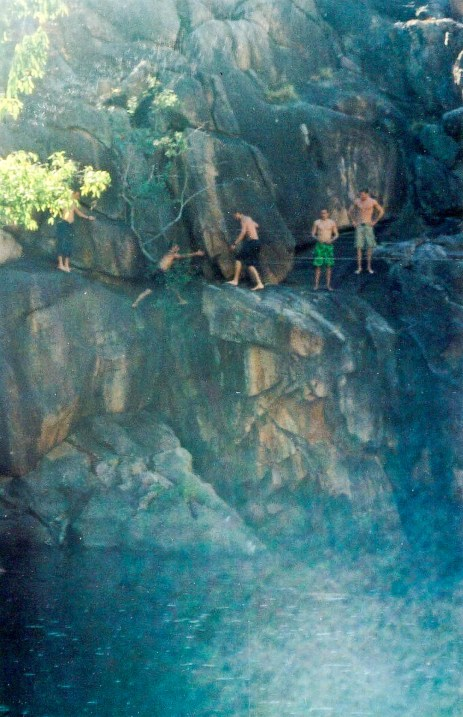 cliff diving kakadu