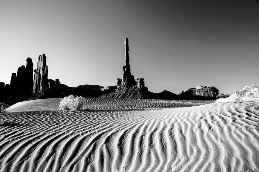 sand dunes bw