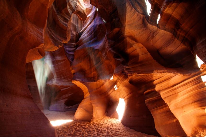 antelope canyon purple