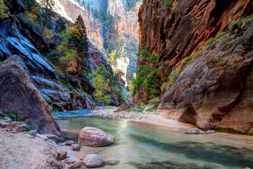 Zion Narrows Virgin River